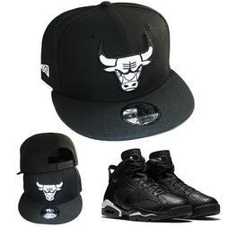New Era NBA Chicago Bulls Cap Snapback Hat Matching Air Jord
