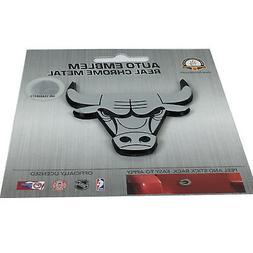 NBA Chicago Bulls Chrome Automobile Emblem, One Size