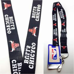 NBA Chicago Bulls Clip on Lanyard Keychain Official Licensed