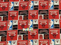 NBA CHICAGO BULLS Cotton Fabric - 1/4 to 1/2 YARD - OOP & RA