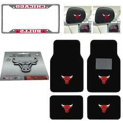 NBA Chicago Bulls Floor Mats License Plate Frame Headrest Co