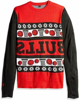 Wordmark NBA Chicago Bulls Men's Sweater, Red, Size Large