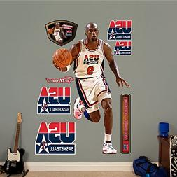 NBA Chicago Bulls Michael Jordan 1992 Dream Team Fathead Rea