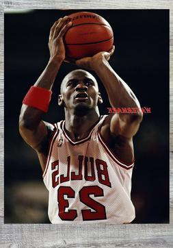 NBA Michael Jordan Chicago Bulls Free Throw Line Color 8 X 1