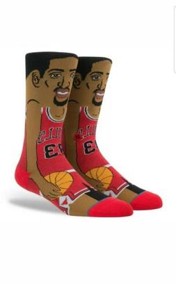NBA Stance Scottie Pippen Chicago Bulls Cartoon Socks Men's