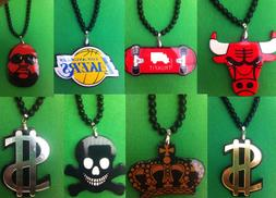 necklaces and pendants hiphop skater chicago bulls