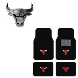 New 5pc NBA Chicago Bulls Car Truck Floor Mats & Chrome Embl