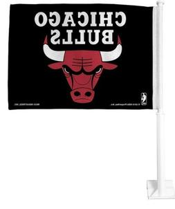 New! Chicago Bulls Double Sided Window Car Flag