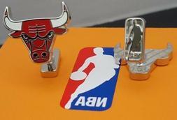 *New*Chicago Bulls Palladium Plated Cufflinks