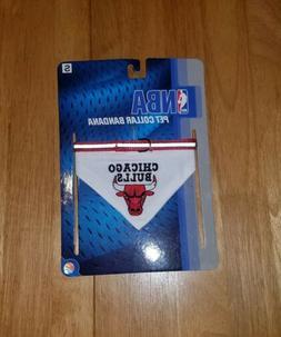 NEW--NBA CHICAGO BULLS PET COLLAR BANDANA--SIZE S