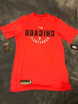 NEW Nike Men Chicago Bulls NBA Practice Shooting Shirt-Red M