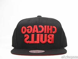 New Mitchell & Ness NBA Snapback Hat - Chicago Bulls Black T