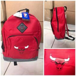 New! NBA Chicago Bulls Backpack in red with gray bottom and