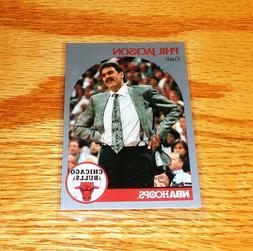 New Phil Jackson Coach Chicago Bulls 1990 NBA Hoops Card #30