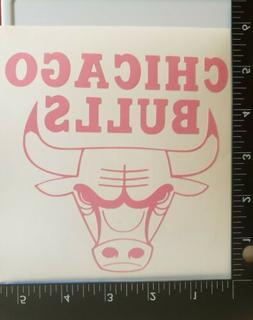 """Pink Chicago Bulls Decal 5""""×5"""""""