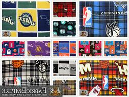 "Polar Fleece Printed Fabric NBA 60"" Wide Sold By the Yard"