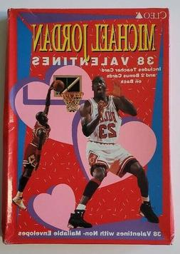 SEALED Box of  1990's Michael Jordan CLEO Valentines Cards -