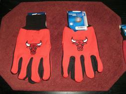 TWO  PAIR OF CHICAGO BULLS, SPORT UTILITY GLOVES FROM FOREVE