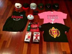 Ultimate CHICAGO BULLS FAN PACKAGE - Bobbleheads, Hats, Jers