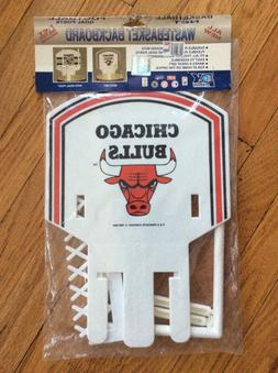 VINTAGE 1990 CHICAGO BULLS WASTEBASKET BACKBOARD, SUPER RARE