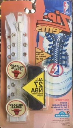 Vintage 1991 Zip-'Ems NBA Chicago Bulls Team Zipper Shoelace