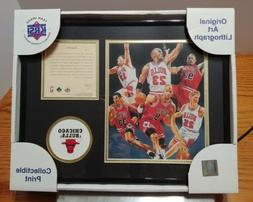Vintage Chicago Bulls Collectible Print Lithograph Upper Dec