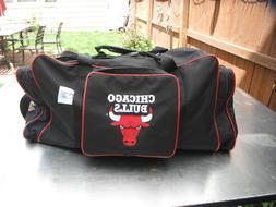 Vtg 90's Chicago Bulls Miller Genuine Draft Duffle Sports Gy