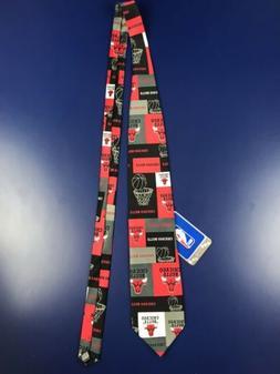 VTG CHICAGO BULLS NBA Logo Basketball Red Black Neck Tie - 2