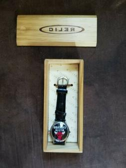 VTG Chicago Bulls Relic Watch Tested Works Needs Battery NBA