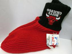 Vtg NWT CHICAGO BULLS Knit Slippers Booties Socks Made in US